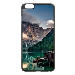 Italy Mountains Pragser Wildsee Apple Iphone 6 Plus/6s Plus Black Enamel Case by Simbadda