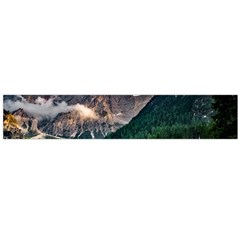 Italy Mountains Pragser Wildsee Large Flano Scarf