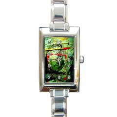 Continental Breakfast 6 Rectangle Italian Charm Watch