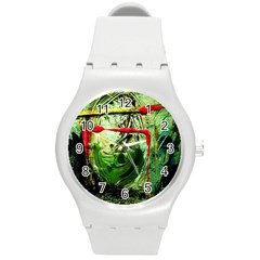 Continental Breakfast 6 Round Plastic Sport Watch (m) by bestdesignintheworld