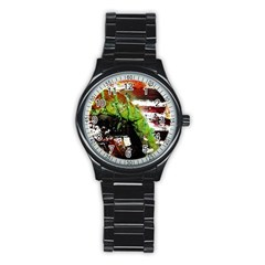 Collosium   Swards And Helmets 3 Stainless Steel Round Watch
