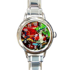 Coffee Land 1 Round Italian Charm Watch