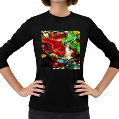 Coffee Land 1 Women s Long Sleeve Dark T Shirts