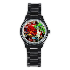 Coffee Land 1 Stainless Steel Round Watch