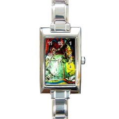 Coffee Land 2 Rectangle Italian Charm Watch