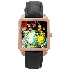 Coffee Land 2 Rose Gold Leather Watch