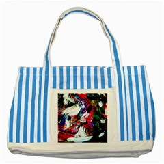 Way Up To Tailand Striped Blue Tote Bag