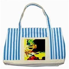 Drama 2 Striped Blue Tote Bag
