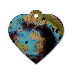Blue Options 5 Dog Tag Heart (one Side)