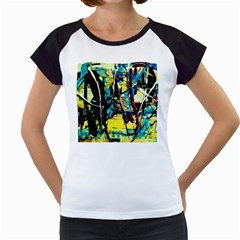 Dance Of Oil Towers 3 Women s Cap Sleeve T