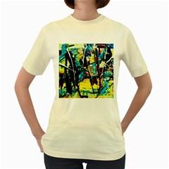 Dance Of Oil Towers 3 Women s Yellow T Shirt