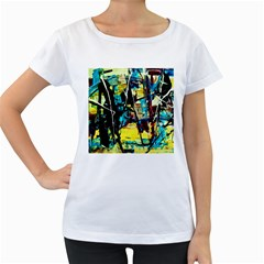 Dance Of Oil Towers 3 Women s Loose Fit T Shirt (white)