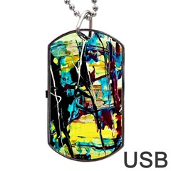 Dance Of Oil Towers 3 Dog Tag Usb Flash (one Side)