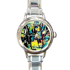 Dance Of Oil Towers 3 Round Italian Charm Watch