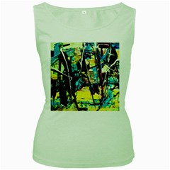 Dance Of Oil Towers 3 Women s Green Tank Top
