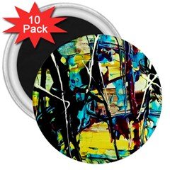 Dance Of Oil Towers 3 3  Magnets (10 Pack)