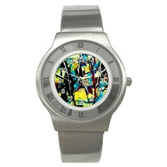 Dance Of Oil Towers 3 Stainless Steel Watch
