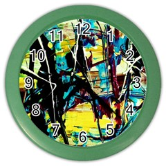Dance Of Oil Towers 3 Color Wall Clocks