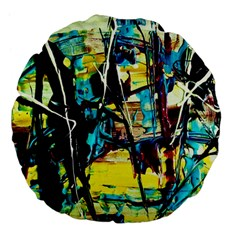 Dance Of Oil Towers 3 Large 18  Premium Flano Round Cushions