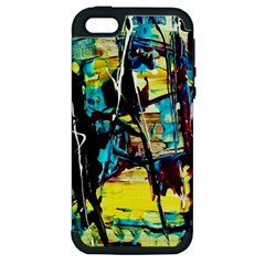 Dance Of Oil Towers 3 Apple Iphone 5 Hardshell Case (pc+silicone)