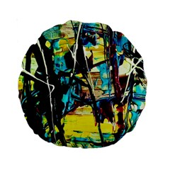 Dance Of Oil Towers 3 Standard 15  Premium Round Cushions
