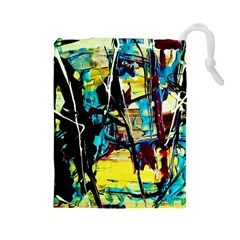 Dance Of Oil Towers 3 Drawstring Pouches (large)