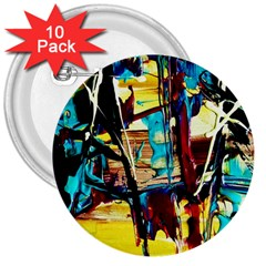 Dance Of Oil Towers 4 3  Buttons (10 Pack)  by bestdesignintheworld