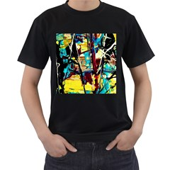 Dance Of Oil Towers 4 Men s T Shirt (black) (two Sided)