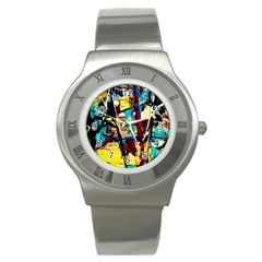 Dance Of Oil Towers 4 Stainless Steel Watch