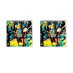 Dance Of Oil Towers 4 Cufflinks (square)