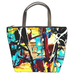 Dance Of Oil Towers 4 Bucket Bags by bestdesignintheworld