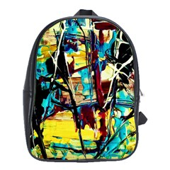 Dance Of Oil Towers 4 School Bag (large) by bestdesignintheworld