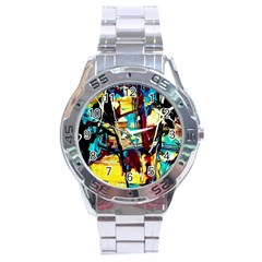 Dance Of Oil Towers 4 Stainless Steel Analogue Watch by bestdesignintheworld
