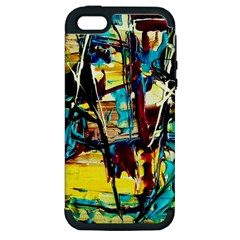 Dance Of Oil Towers 4 Apple Iphone 5 Hardshell Case (pc+silicone)