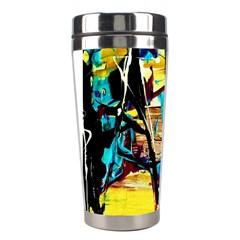 Dance Of Oil Towers 4 Stainless Steel Travel Tumblers