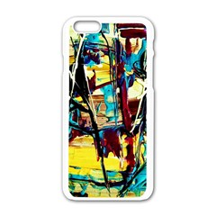 Dance Of Oil Towers 4 Apple Iphone 6/6s White Enamel Case by bestdesignintheworld
