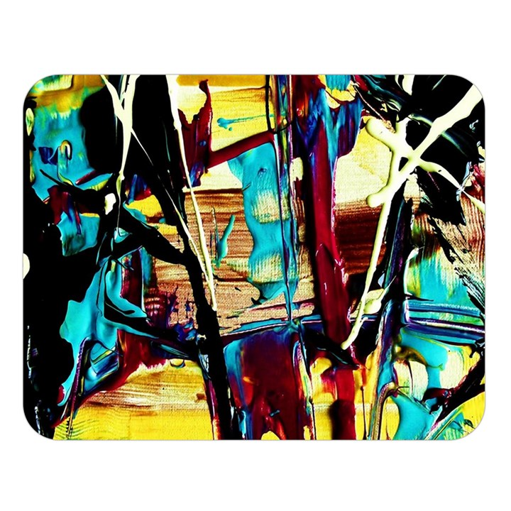 Dance Of Oil Towers 4 Double Sided Flano Blanket (Large)