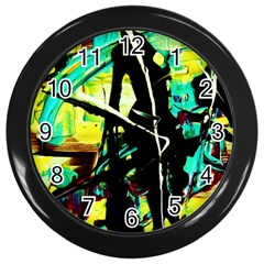 Dance Of Oil Towers 5 Wall Clocks (black) by bestdesignintheworld