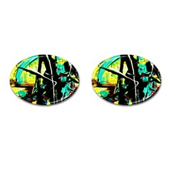 Dance Of Oil Towers 5 Cufflinks (oval)
