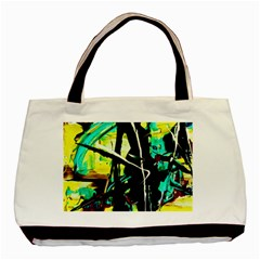 Dance Of Oil Towers 5 Basic Tote Bag by bestdesignintheworld