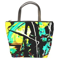 Dance Of Oil Towers 5 Bucket Bags by bestdesignintheworld