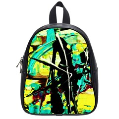 Dance Of Oil Towers 5 School Bag (small) by bestdesignintheworld