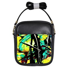 Dance Of Oil Towers 5 Girls Sling Bags