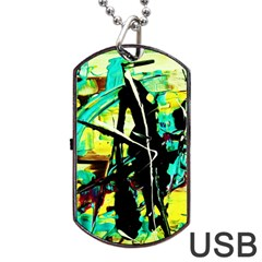 Dance Of Oil Towers 5 Dog Tag Usb Flash (two Sides)