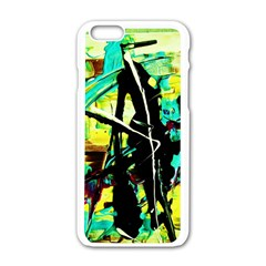 Dance Of Oil Towers 5 Apple Iphone 6/6s White Enamel Case