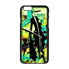 Dance Of Oil Towers 5 Apple Iphone 6/6s Black Enamel Case by bestdesignintheworld