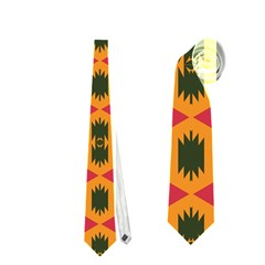 Tribal Shapes In Retro Colors                                 Necktie