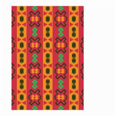 Tribal Shapes In Retro Colors                                 Small Garden Flag by LalyLauraFLM