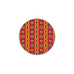 Tribal Shapes In Retro Colors                                 Golf Ball Marker (4 Pack)