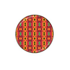 Tribal Shapes In Retro Colors                                 Hat Clip Ball Marker